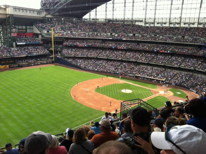 Seating view for Miller Park Section 435 Row 15 Seat 12