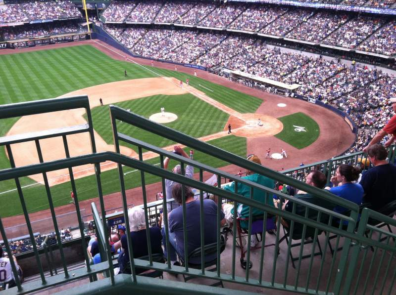 Seating view for Miller Park Section 430 Row 8 Seat 20