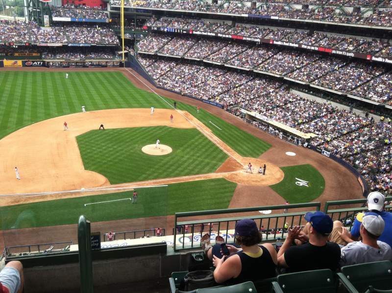 Seating view for Miller Park Section 429 Row 4 Seat 4