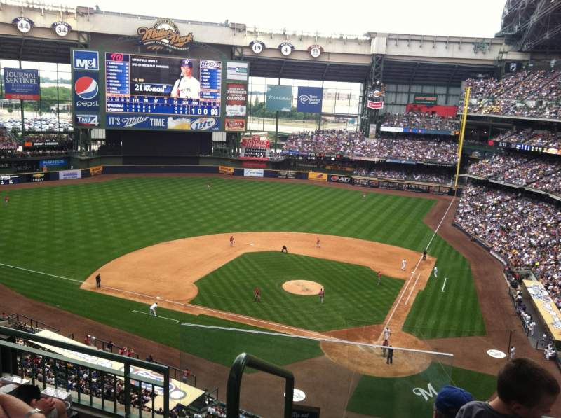 Seating view for Miller Park Section 425 Row 4 Seat 13