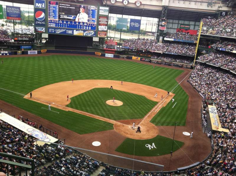 Seating view for Miller Park Section 424 Row 3 Seat 20
