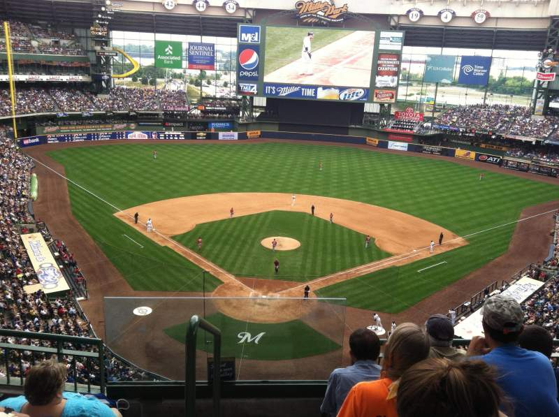 Seating view for Miller Park Section 420 Row 3 Seat 20