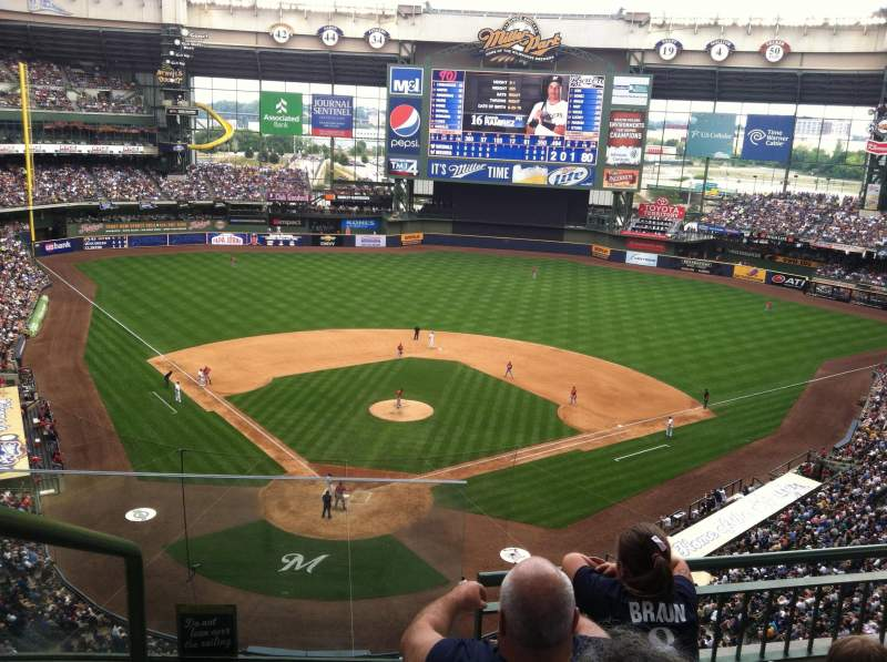Seating view for Miller Park Section 419 Row 4 Seat 13