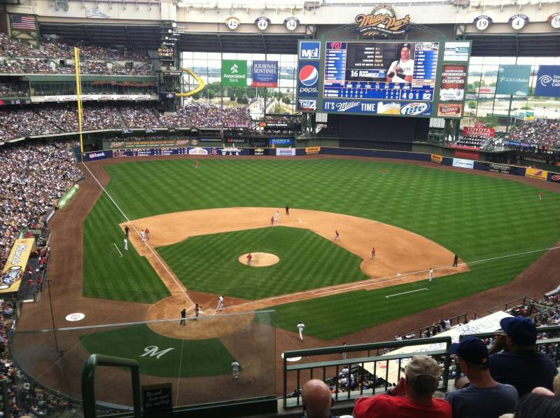 Seating view for Miller Park Section 418 Row 3 Seat 20