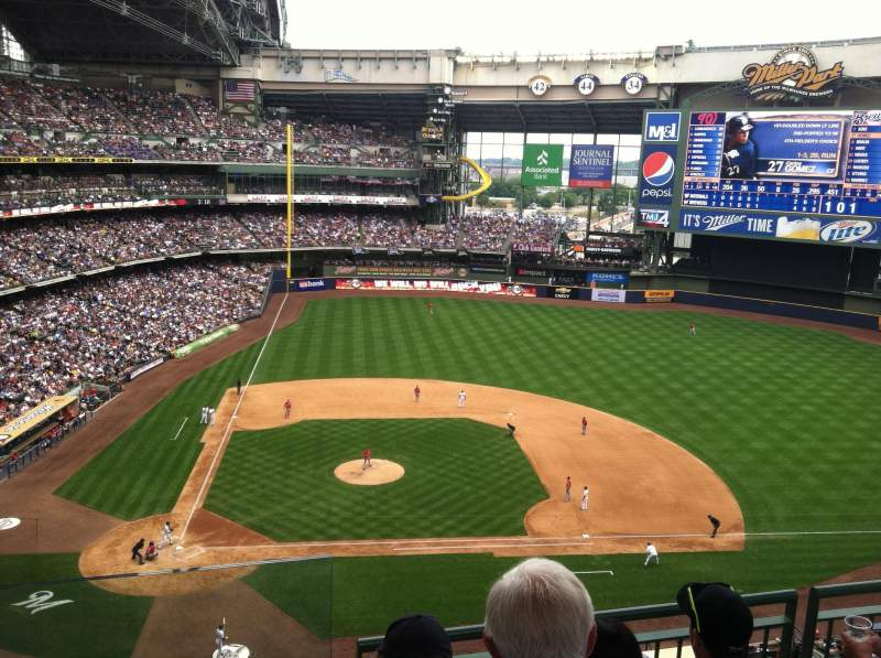 Seating view for Miller Park Section 415 Row 4 Seat 13