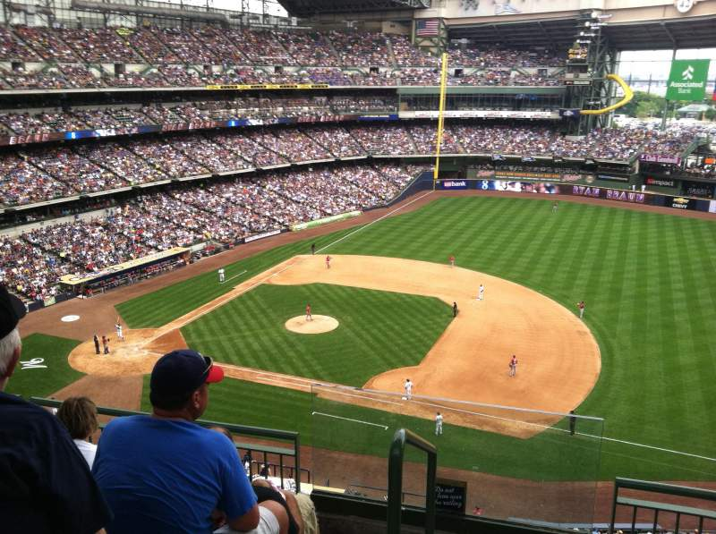 Seating view for Miller Park Section 412 Row 3 Seat 20