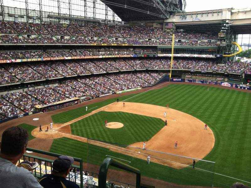 Seating view for Miller Park Section 411 Row 4 Seat 13