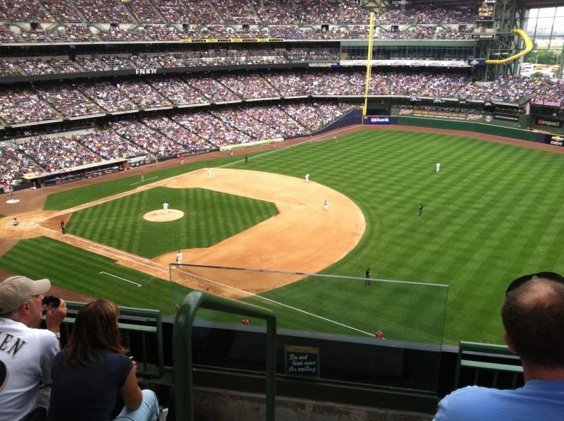 Seating view for Miller Park Section 409 Row 4 Seat 13