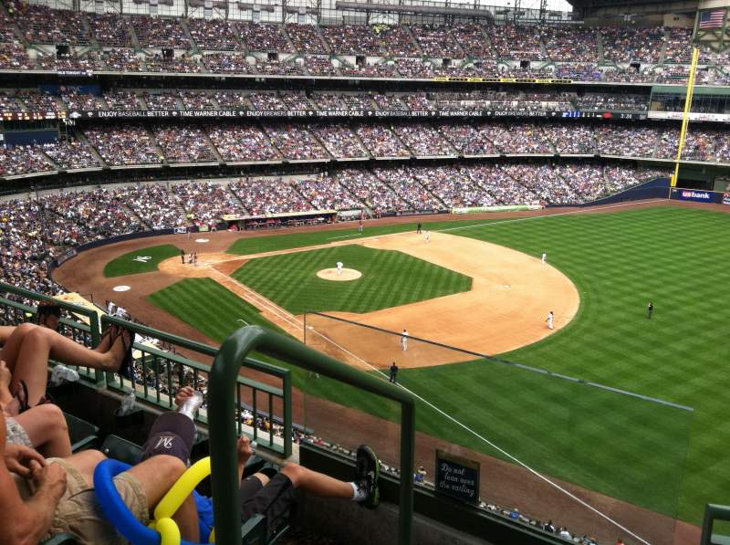Seating view for Miller Park Section 407 Row 4 Seat 13