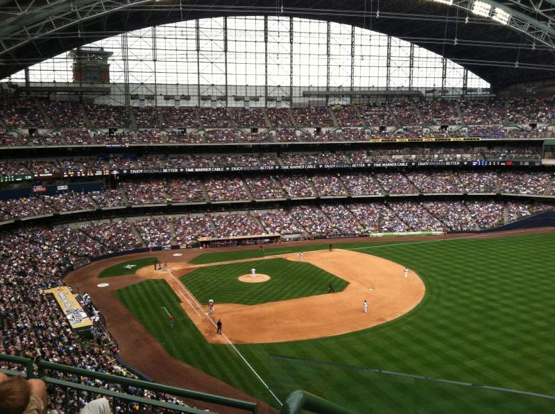 Seating view for Miller Park Section 405 Row 4 Seat 13