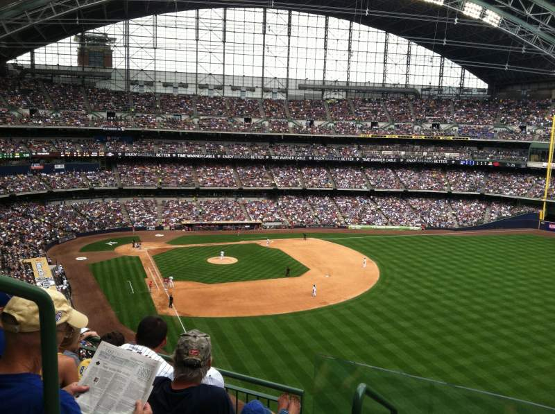 Seating view for Miller Park Section 404 Row 3 Seat 20