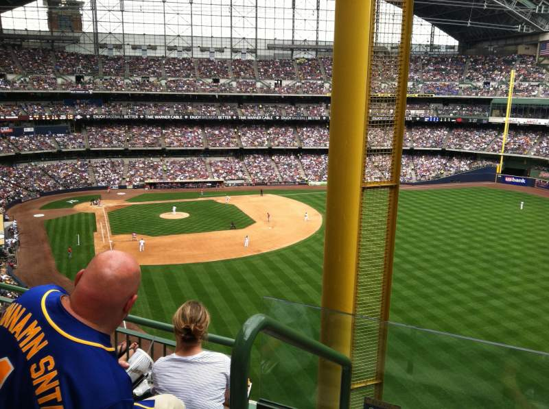 Seating view for Miller Park Section 404 Row 8 Seat 23