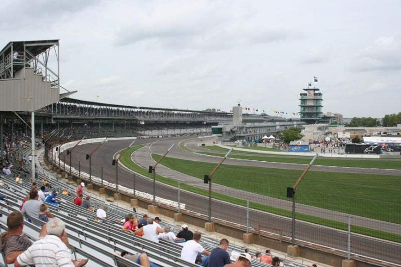Seating view for Indianapolis Motor Speedway Section E stand Box 32 Row Q Seat 8