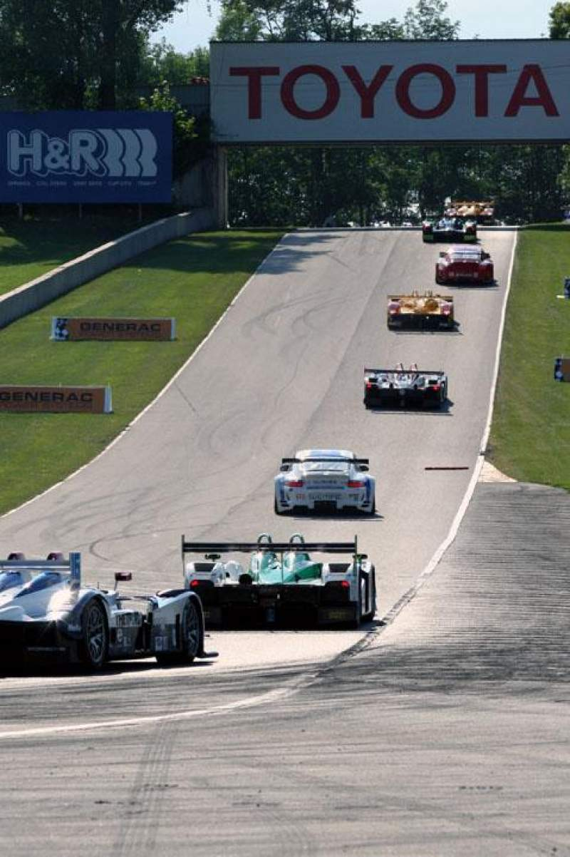Seating view for Road America Section Turn 5 stands Row 10 Seat 5
