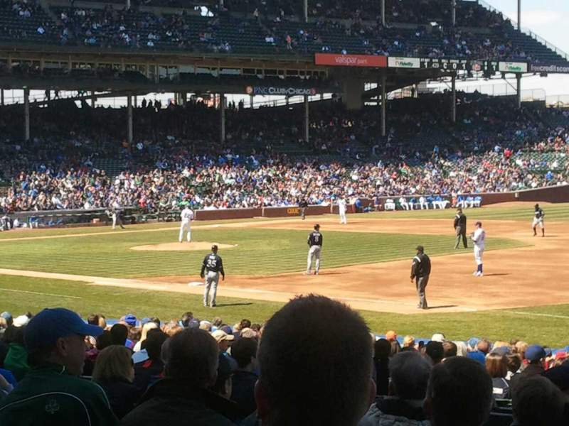 Seating view for Wrigley Field Section 135 Row 10 Seat 7