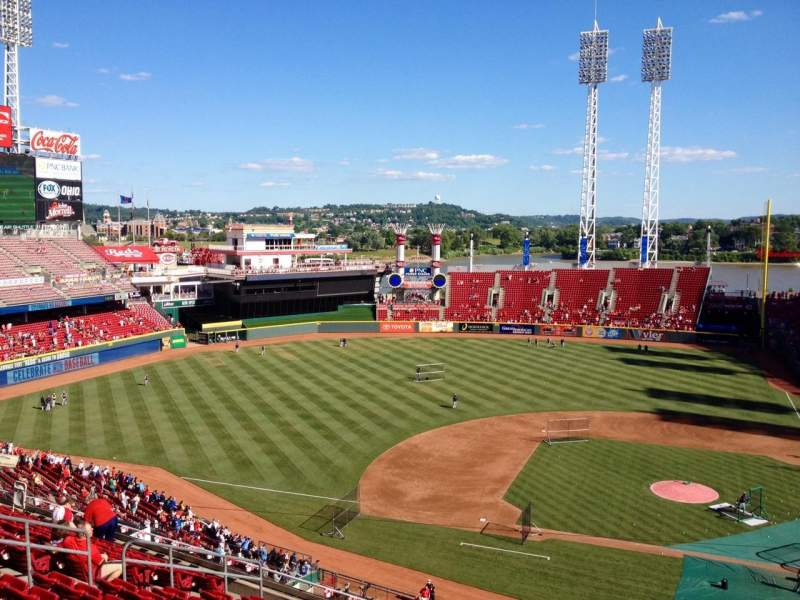 Seating view for Great American Ball Park Section 418 Row M Seat 1