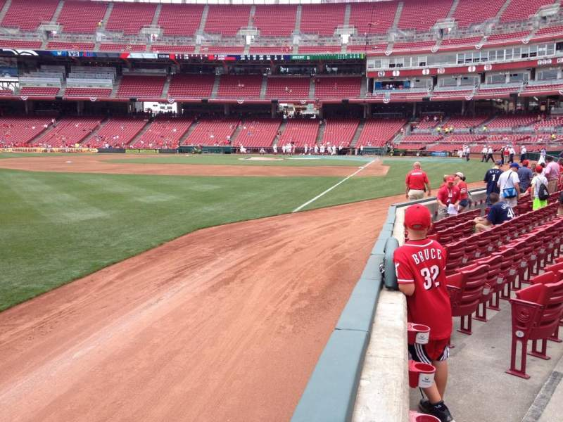 Seating view for Great American Ball Park Section 111 Row G Seat 17