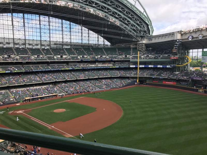 Seating view for Miller Park Section 409 Row 1 Seat 6