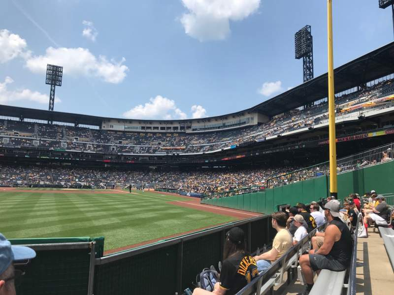 Seating view for PNC Park Section 135 Row D Seat 1