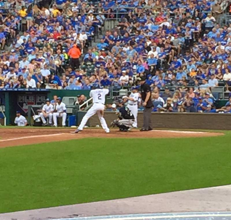 Seating view for Kauffman Stadium Section 116 Row B Seat 6