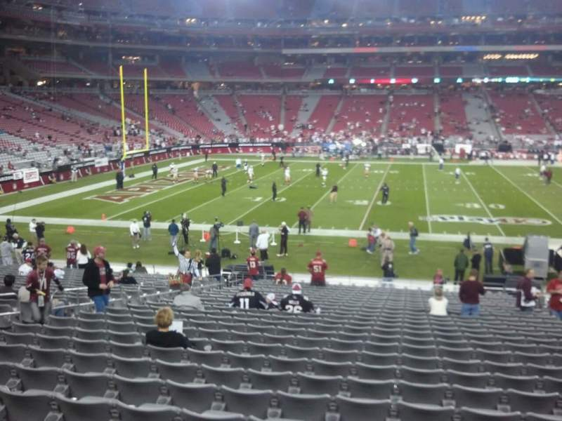 Seating view for State Farm Stadium Section 111 Row 13 Seat 07