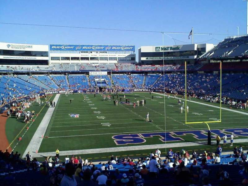 Seating view for Buffalo Bills Stadium Section 104
