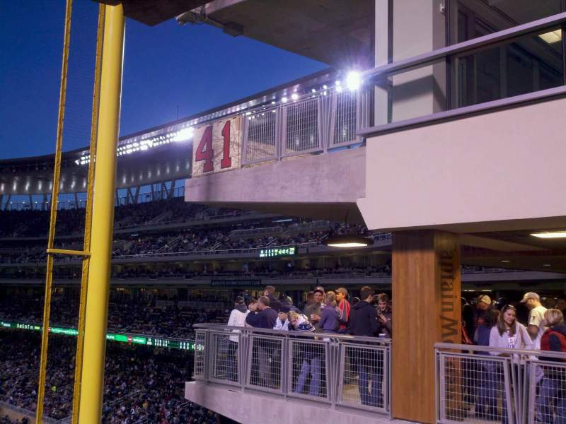 Seating view for Target Field Section Captain's Deck