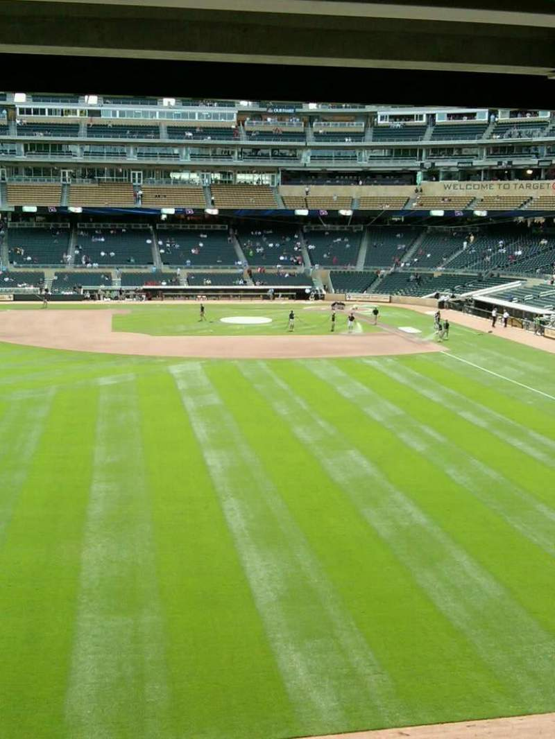 Seating view for Target Field Section 231 Row 3 Seat 12