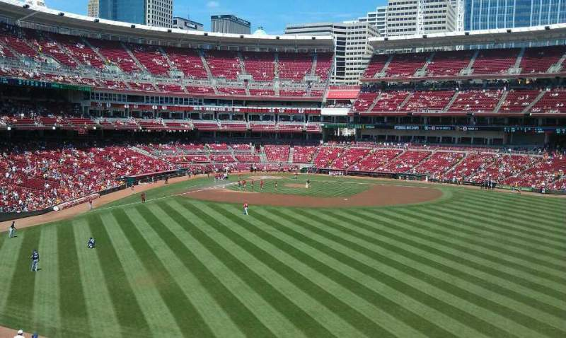 Seating view for Great American Ball Park Section 143 Row y Seat 1