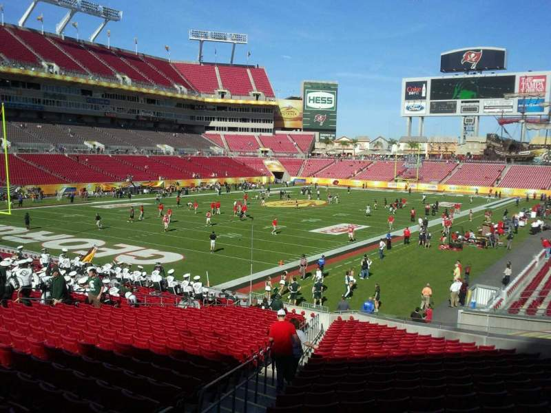 Seating view for Raymond James Stadium Section 127 Row X Seat 4