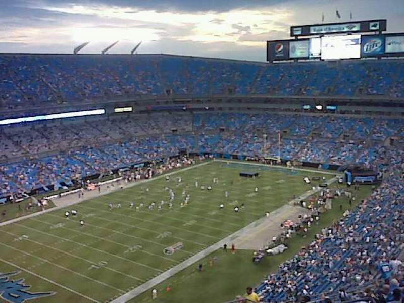 Seating view for Bank of America Stadium Section 525 Row 13