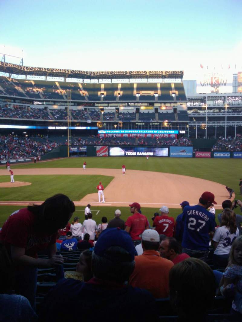 Seating view for Globe Life Park in Arlington Section 34 Row 21 Seat 4