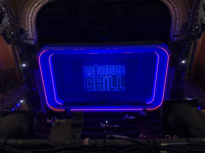 Seating view for Lyceum Theatre (Broadway) Section Balcony C Row A Seat 106