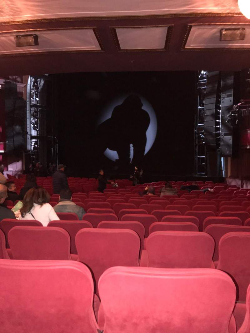Seating view for Broadway Theatre - 53rd Street Section Orchestra R Row T Seat 21