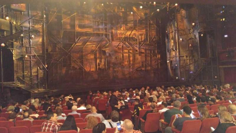Seating view for Broadway Theatre - 53rd Street Section Orchestra L Row R Seat 8