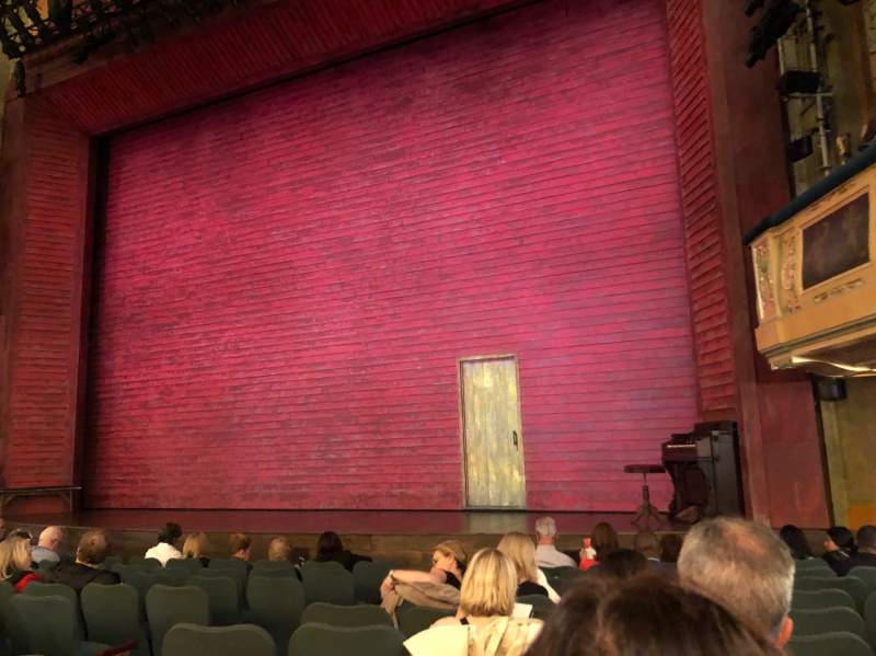 Seating view for Shubert Theatre Section Orchestra R Row L Seat 12