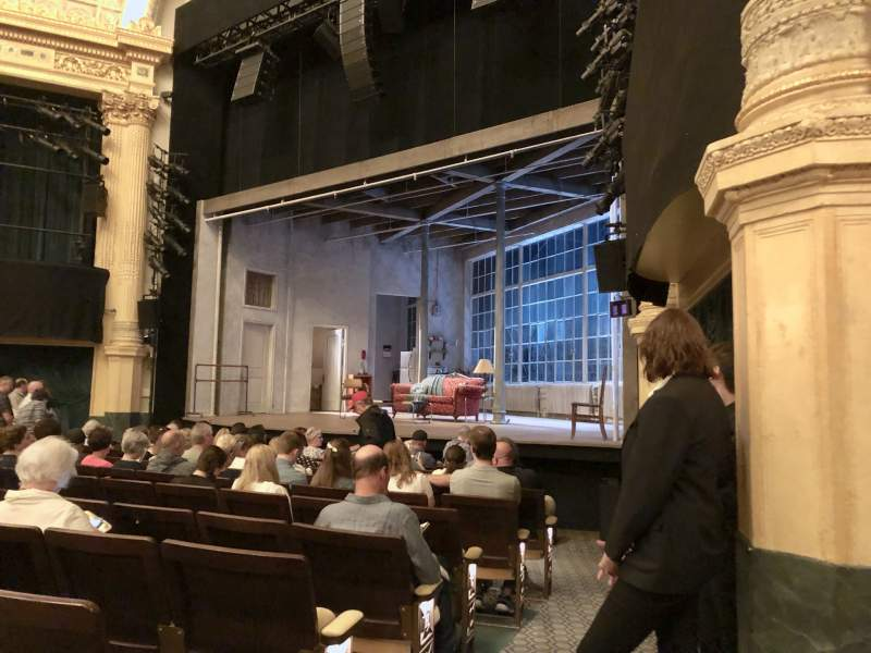 Seating view for Hudson Theatre Section Orchestra R Row M Seat 10