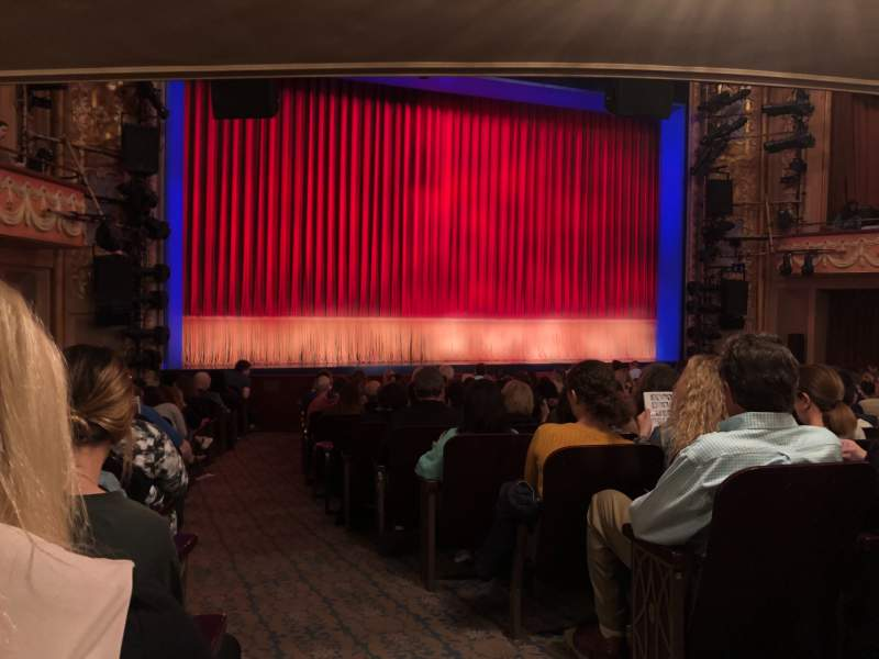 Seating view for Longacre Theatre Section Orchestra L Row Q Seat 2