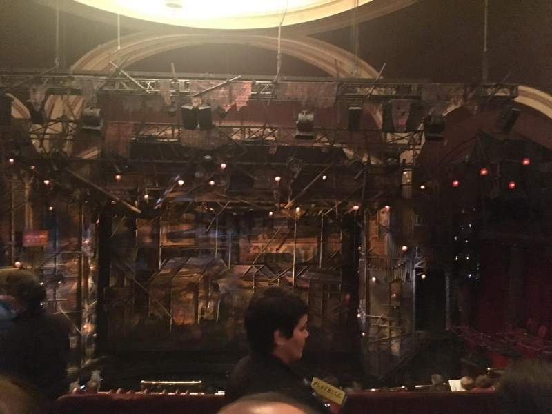 Seating view for Broadway Theatre - 53rd Street Section Rear Mezzanine C Row B Seat 117