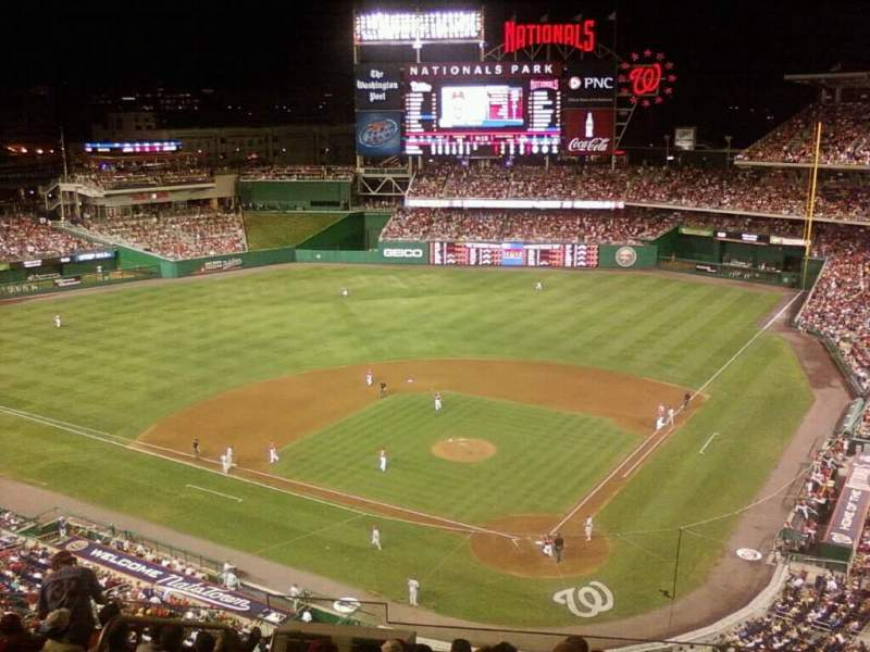 Seating view for Nationals Park Section 312