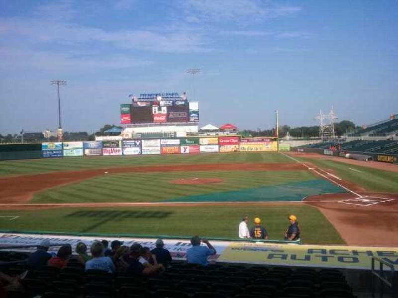 Seating view for Principal Park Section 6