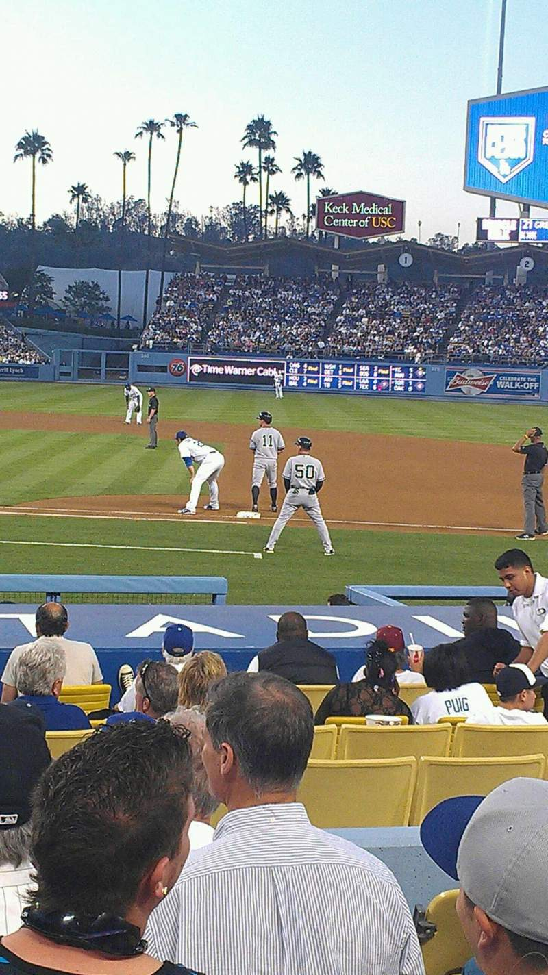 Seating view for Dodger Stadium Section 20FD Row G Seat 5
