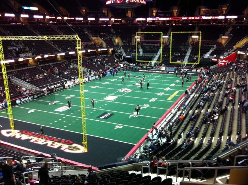 Seating view for Quicken Loans Arena Section 120 Row 23 Seat 10
