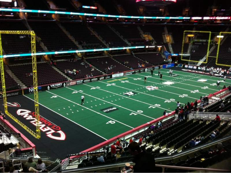 Seating view for Quicken Loans Arena Section 121 Row 23 Seat 10