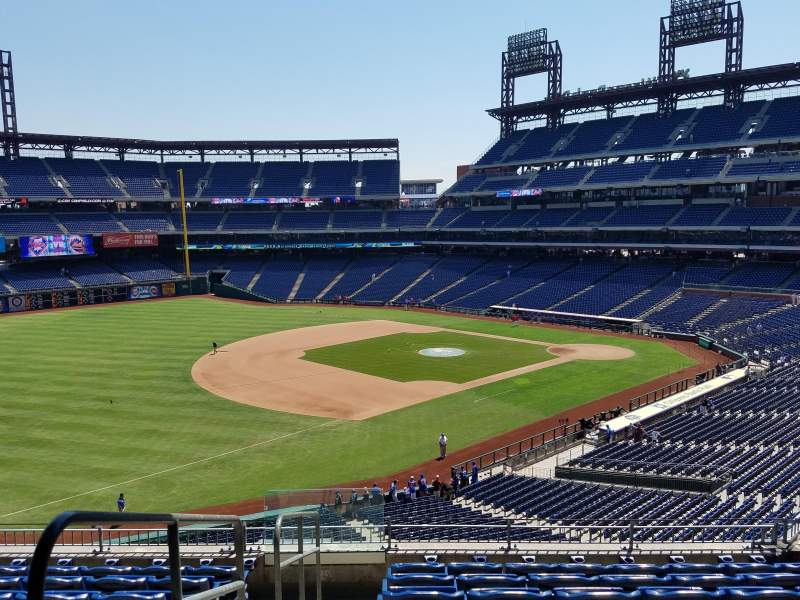Seating view for Citizens Bank Park Section 233 Row 8 Seat 13