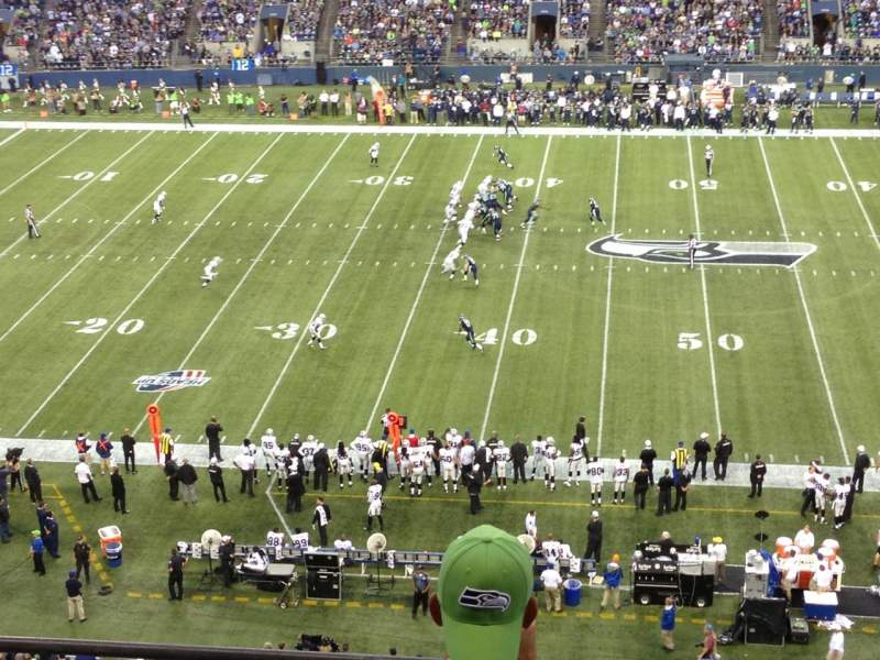 Seating view for CenturyLink Field Section 309 Row D Seat 20