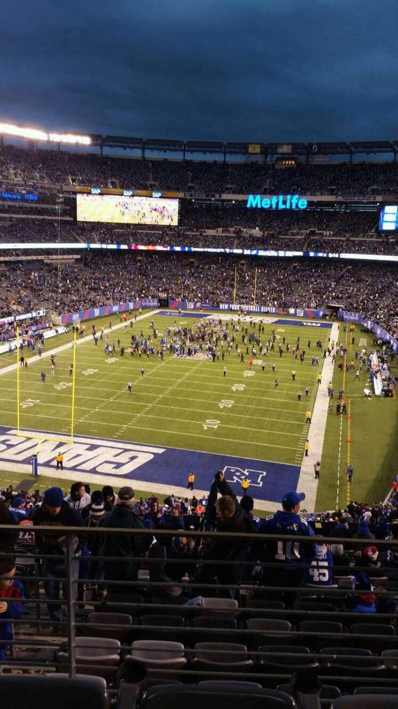 Seating view for MetLife Stadium Section 248 Row 15 Seat 13