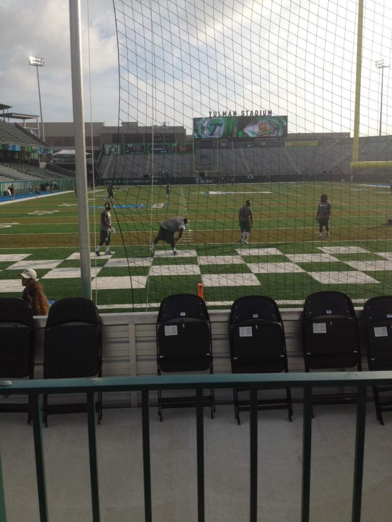 Seating view for Yulman Stadium Section 113 Row B Seat 10