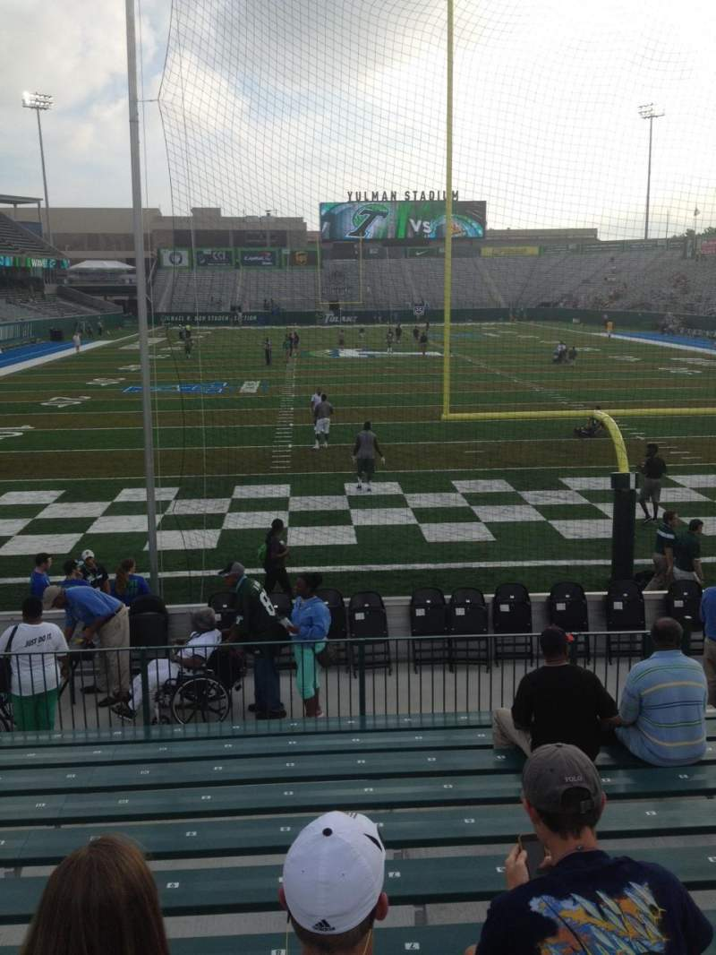 Seating view for Yulman Stadium Section 112 Row M Seat 10