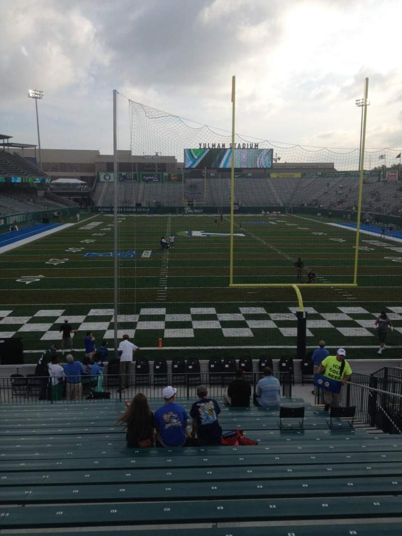 Seating view for Yulman Stadium Section 113 Row 20 Seat 10